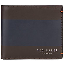 Buy Ted Baker Stripe Panel Bifold Wallet, Chocolate Online at johnlewis.com