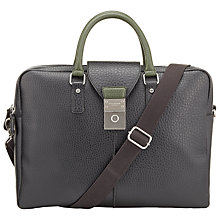 Buy Ted Baker Keycork Pebble Grain Document Bag, Black Online at johnlewis.com