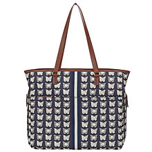Buy Pink Lining Henrietta BramleyTote Changing Bag, Navy/White Online at johnlewis.com
