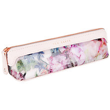 Buy Ted Baker Ely Floral Print Pencil Case, Dusky Pink Online at johnlewis.com