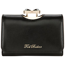 Buy Ted Baker Caaro Bow Top Small Leather Purse Online at johnlewis.com