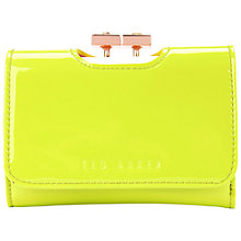 Buy Ted Baker Samitia Top Fold Over Small Purse, Bright Green Online at johnlewis.com