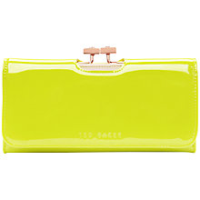 Buy Ted Baker Saimia Folding Matinee Leather Purse, Bright Green Online at johnlewis.com