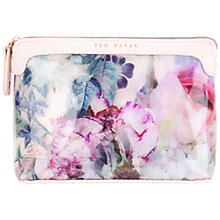 Buy Ted Baker Brighto Peony Print Wash Bag, Dusky Pink Online at johnlewis.com