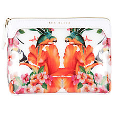 Buy Ted Baker Picardy Toucan Small Wash Bag, White Online at johnlewis.com