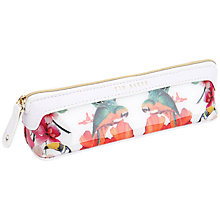 Buy Ted Baker Salfy Toucan Print Pencil Case, White Online at johnlewis.com
