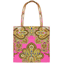 Buy Ted Baker Leykon Paisley Print Small Shopper Bag, Pink Online at johnlewis.com