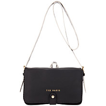Buy Ted Baker Snakun Stab Stitch Leather Across Body Bag Online at johnlewis.com