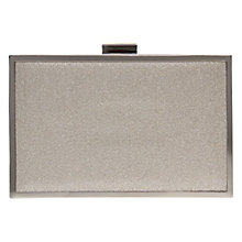 Buy Carvela Daisy Box Clutch Bag, Fabric Champagne Online at johnlewis.com