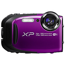 "Buy Fujifilm FinePix XP80 Waterproof, Freezeproof, Shockproof, Dustproof Compact Digital Camera, Wi-Fi, Full HD 1080p, 16MP, 5x Optical Zoom, 10x Intelligent Zoom, 2.7"" LCD Screen Online at johnlewis.com"