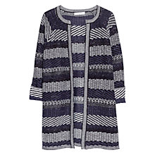 Buy Mango Metallic Striped Cardigan, Navy Online at johnlewis.com