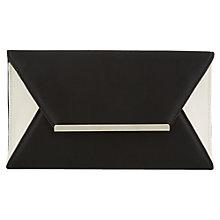 Buy Precis Petite Envelope Ottoman Clutch, Black Online at johnlewis.com