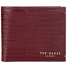 Buy Ted Baker Exclusive Lizar Exotic Leather Wallet, Oxblood Online at johnlewis.com