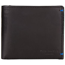 Buy Ted Baker Printed Bifold Wallet & Card Holder, Black Online at johnlewis.com