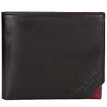 Buy Ted Baker Contrast Corner Bifold Leather Wallet Online at johnlewis.com