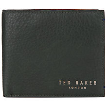 Buy Ted Baker Camlock Contrast Leather Bifold Wallet, Green Online at johnlewis.com
