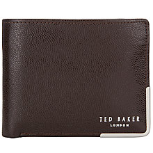 Buy Ted Baker Metal Corner Wallet & Card Holder, Chocolate Online at johnlewis.com