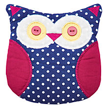Buy Little Joule Girls' Spot Owl Purse, Blue Online at johnlewis.com