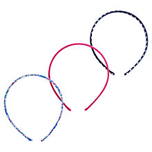 Buy Little Joule Girls' Pattern Headbands, Pack of 3, Blue/Pink Online at johnlewis.com