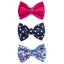 Buy Little Joule Bow Hair Slides, Pack of 3, Multi Online at johnlewis.com