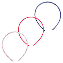 Buy Little Joule Girls' Headbands, Pack of 3, Pink/Blue Online at johnlewis.com