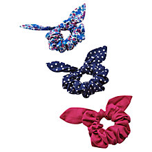Buy Little Joule Girls' Hair Scrunchies, Pack of 3, Multi Online at johnlewis.com