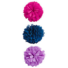 Buy Little Joule Flower Hair Slides, Pack of 3, Multi Online at johnlewis.com