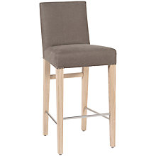 Buy Neptune Shoreditch Upholstered High Back Bar Chair, Grey Linen Online at johnlewis.com