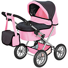 Buy John Lewis Baby Doll  Pram & Accessories, Small Online at johnlewis.com