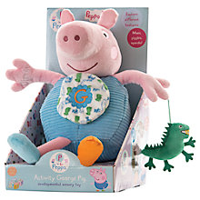 Buy Peppa Pig George Pig Activity Toy, Large Online at johnlewis.com