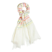 Buy Gerard Darel Adventure Scarf, Blanc Online at johnlewis.com