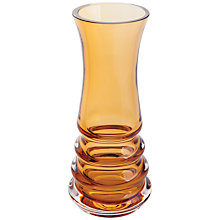 Buy Dartington Crystal Wibble Vase, Small, Amber Online at johnlewis.com