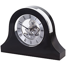 Buy Dartington Crystal Mantle Clock, Black Online at johnlewis.com