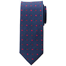 Buy Daniel Hechter Pindot Mini Square Silk Tie Online at johnlewis.com