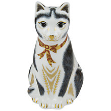 Buy Royal Crown Derby Black & White Cat Paperweight Online at johnlewis.com