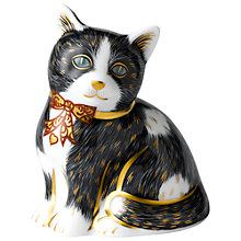Buy Royal Crown Derby Black & White Kitten Paperweight Online at johnlewis.com