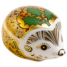 Buy Royal Crown Derby Holly Hedgehog Online at johnlewis.com