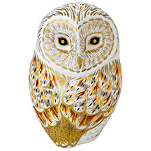 Buy Royal Crown Derby Winter Owl Paperweight Online at johnlewis.com