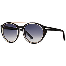 Buy TOM FORD FT0383 Joan Sunglasses, Black Online at johnlewis.com