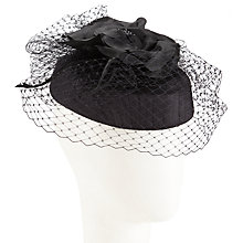 Buy Walter Wright Dita Flower Appliqué Silk Occasion Hat, Black Online at johnlewis.com