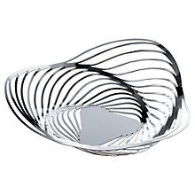 Buy Alessi Trinity Decorative Stainless Steel Basket, 26cm Online at johnlewis.com