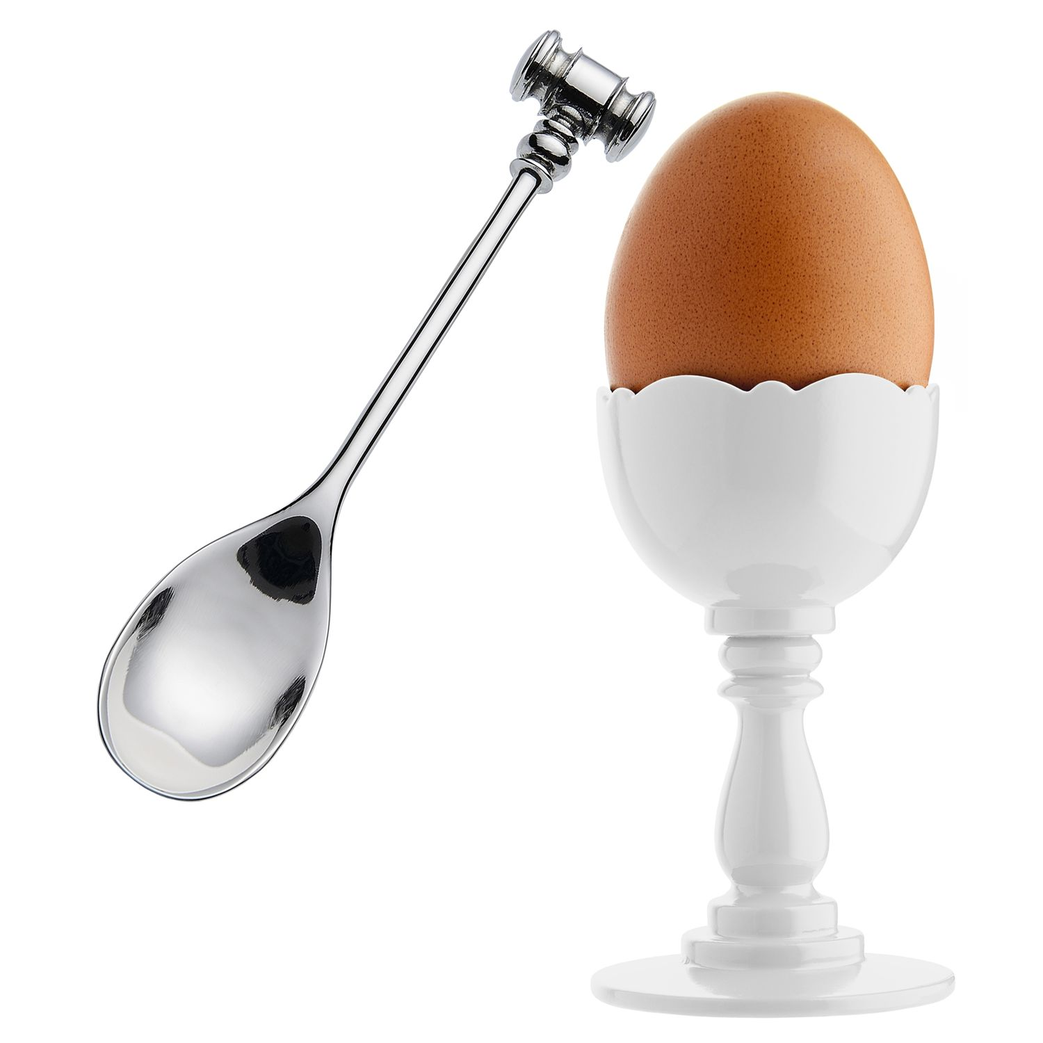 Alessi Alessi Dressed Egg Cup and Spoon, White