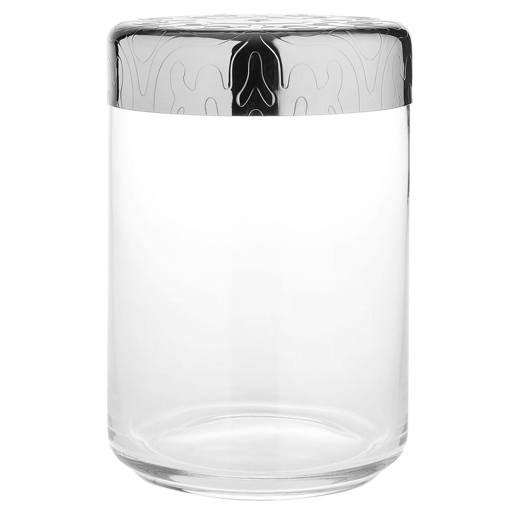 Alessi Alessi Dressed Storage Jar, Stainless Steel/Crystal Glass, 1L