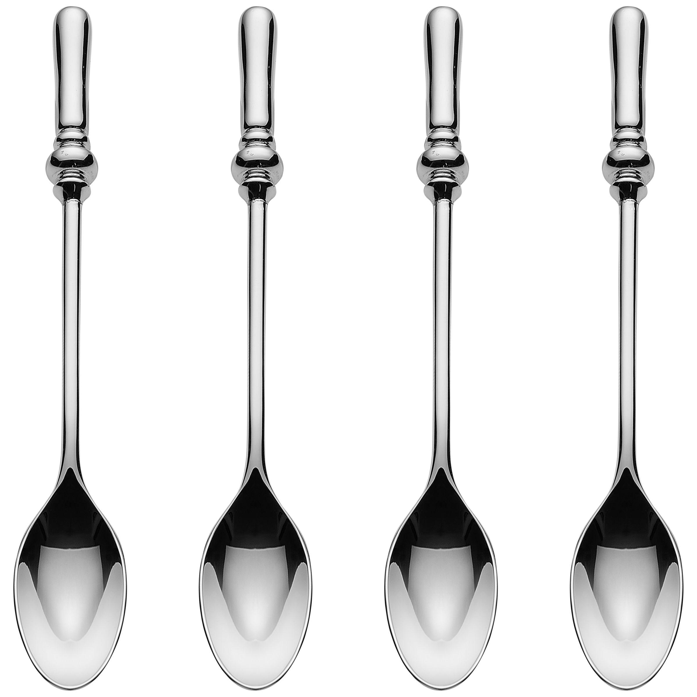 Alessi Alessi Dressed Coffee Spoons, Stainless Steel, Set of 4