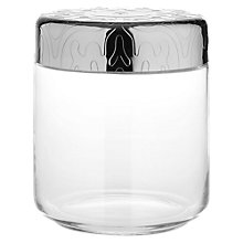 Buy Alessi Dressed Storage Jar, Stainless Steel/Crystal Glass, 75cl Online at johnlewis.com