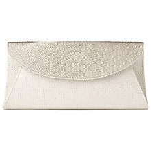 Buy L.K. Bennett Flo Leather Fold-Over Clutch Bag, Soft Gold Online at johnlewis.com
