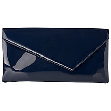 Buy L.K. Bennett Leonie Patent Leather Clutch, Navy Online at johnlewis.com