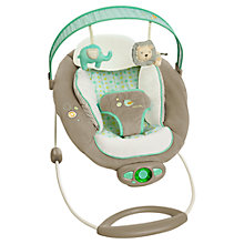 Buy Ingenuity Gentle Automatic Bouncer, Grey/Green Online at johnlewis.com