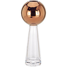 Buy Tom Dixon Tank Stem Vase, Copper/Clear Online at johnlewis.com