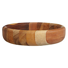 Buy John Lewis Acacia Barrel Shallow Bowl Online at johnlewis.com